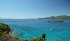 sommar för greece helig lookberg Royaltyfri Foto