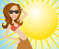 sommar för modemodell Arkivfoto