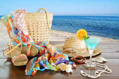 sommar för snäckskal för sand för bakgrundsbegreppsram Royaltyfria Bilder