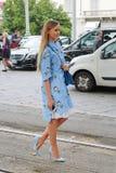 Sommar 2015 för vår för Milan modevecka Royaltyfria Bilder