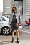kasiaen ayerden sommar 2015 för våren för den Milan modeveckan Arkivfoto