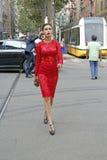 sommar 2015 för vår för vecka för lisegrendeneMilan mode Royaltyfria Foton