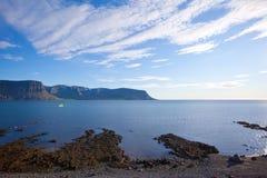 sommar för fjordsiceland liggande arkivfoto
