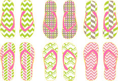 Sommar Flip Flops Vector stock illustrationer