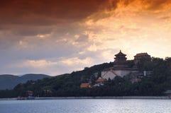 sommar för beijing porslinslott Arkivfoto