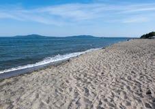 Sommar hav, strand Arkivfoto