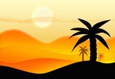 Sommar i öken Arkivbild