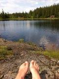 Sommar i bergen Fotografering för Bildbyråer