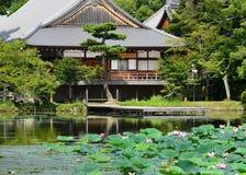 Sommar i den Daikakuji templet, Sagano Kyoto Japan Fotografering för Bildbyråer