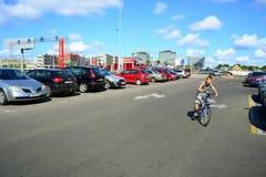 Sommar i huvudstad av det Litauen Vilnius stadsPasilaiciai området Royaltyfri Foto