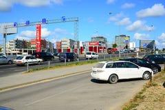 Sommar i huvudstad av det Litauen Vilnius stadsPasilaiciai området Arkivbilder