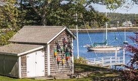 Sommar i Maine Arkivbild