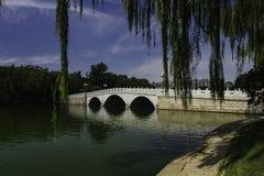 Sommar i Peking Longtan parkerar Fotografering för Bildbyråer