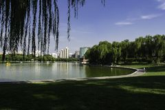 Sommar i Peking Longtan parkerar Arkivfoto