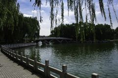 Sommar i Peking Taoranting parkerar Fotografering för Bildbyråer