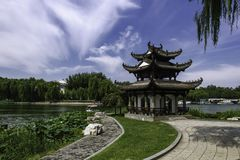 Sommar i Peking Taoranting parkerar Royaltyfri Fotografi