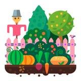 Sommar i trädgården plockning Arkivbild