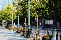 Sommar i Vilnius Arkivfoton