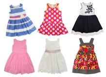 Sommar klär för små flickor royaltyfri fotografi
