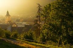 Sommar ljusa Brasov Arkivbilder