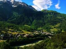 Sommar nära Chamonix, Frankrike Arkivfoto