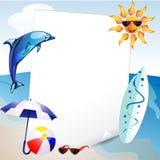 Sommar och havsbakgrund Arkivfoton