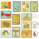 Sommar- och havselement vektor illustrationer