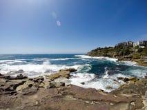 Sommar på den Bondi stranden, Sydney, Australien Arkivfoto