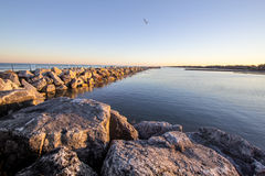 Sommar på den Great Lakes kusten Arkivfoto