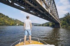 Sommar på floden Arkivbild