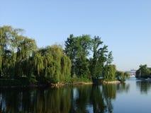 Sommar på floden Royaltyfri Fotografi