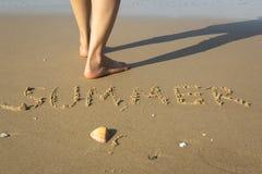 Sommar på stranden arkivfoto