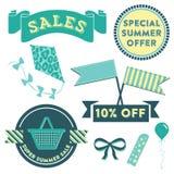 Sommar Sale Clipart Stock Illustrationer