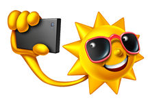 Sommar Selfie royaltyfri illustrationer