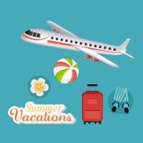 Sommar, semestrar och lopp Arkivbild