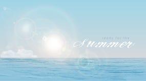 Sommar sol, hav Arkivfoton