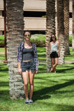 Sommar, solsken och solglasögon Arkivfoton