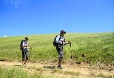 Sommar som fotvandrar i bergen Royaltyfria Foton