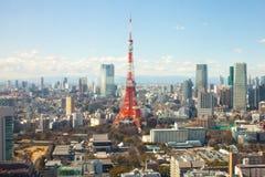 2011 sommar taget tokyo torn arkivbild