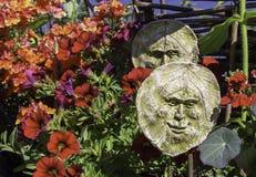 Sommar trädgårds- Art Faces Arkivfoton