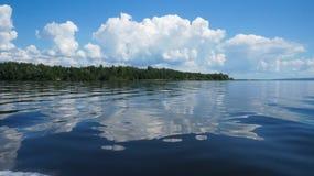 Sommar Volga River, Vasilsursk Royaltyfria Bilder