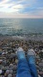 Sommarafton på stranden Royaltyfri Foto