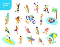 Sommaraktiviteter stock illustrationer