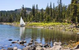 Sommaraktiviteter på älg sjön royaltyfri fotografi