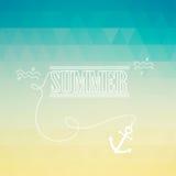 Sommarbakgrund med text Arkivfoton