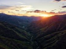 Sommarberg i Lesotho Arkivbilder