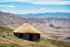 Sommarberg i Lesotho Royaltyfria Bilder