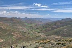 Sommarberg i Lesotho Royaltyfri Bild