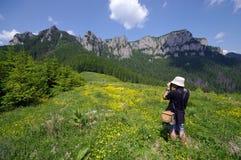 Fotograf i natur Arkivbild