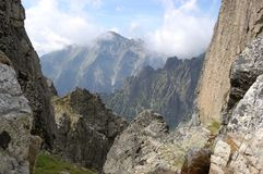 Sommarberglandskap i den höga Tatrasen, Slovakien Royaltyfria Foton